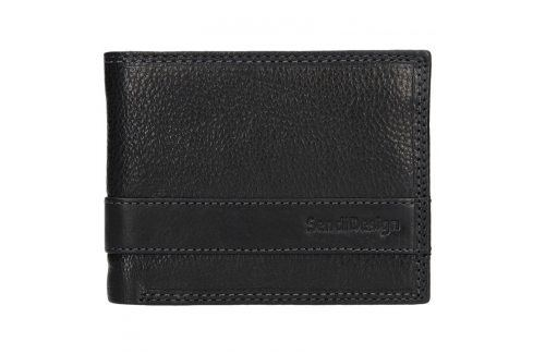Panská kožená slim peněženka SendiDesign Rafael - černá Peněženky