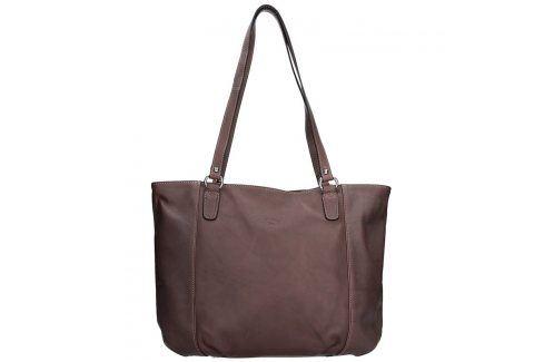 Elegantní dámská kožená kabelka Katana Apolen - tmavě hnědá Kabelky