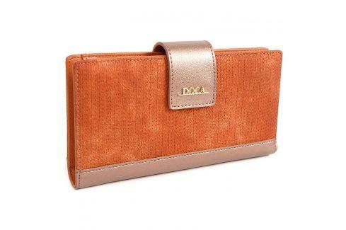 Dámská peněženka Doca 64972 - oranžová Peněženky