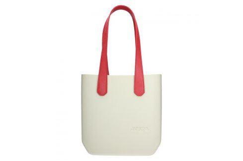 Dámská trendy kabelka Ju'sto J-Half long Grace - krémovo-červená Kabelky