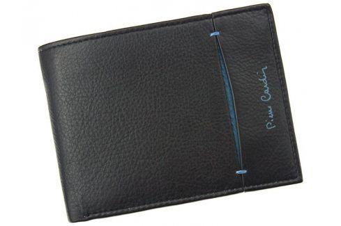 Pánská kožená peněženka Pierre Cardin Elvin - černo-modrá Peněženky