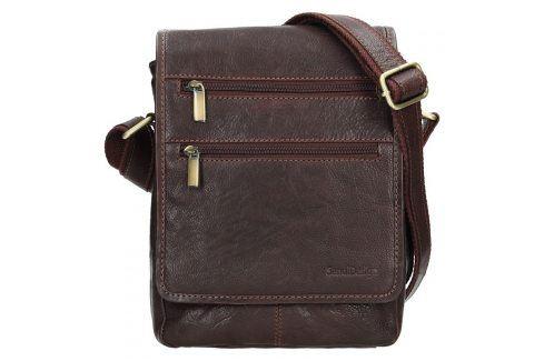 Panská kožená taška přes rameno SendiDesign Maxim - hnědá Tašky a aktovky