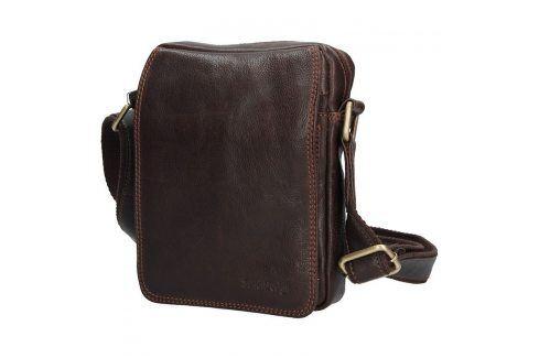 Pánská kožená taška přes rameno SendiDesign CT006 - hnědá Tašky a aktovky