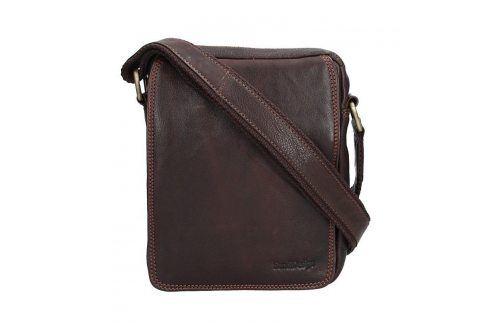 Pánská kožená taška přes rameno SendiDesign CT005 - hnědá Tašky a aktovky