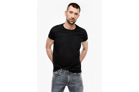 s.Oliver pánské triko bez nápisu 03.899.32.5049/9999 Černá XXL Pánská trička