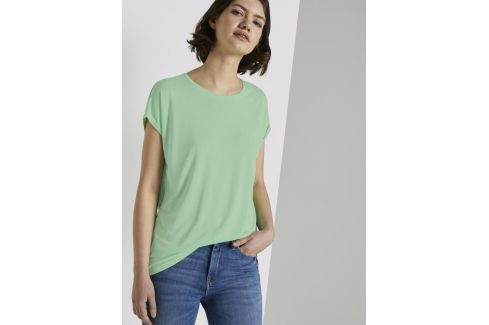 Tom Tailor Denim dámské tričko 1018053/21562 Zelená XL Dámská trička
