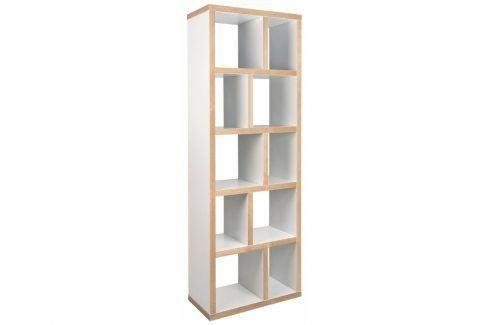 Designová knihovna Castelo 5 70 cm, překližka, matná bílá 9500.320217 Porto Deco Knihovny