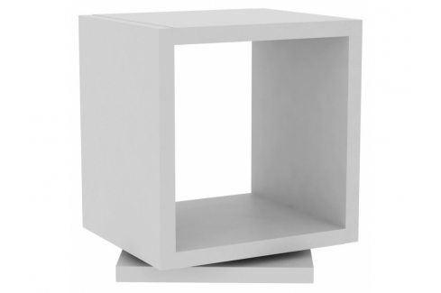 Rotační noční stolek Faro, matná bílá 9000.312014 Porto Deco Noční stolky