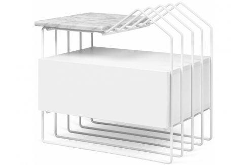 Noční stolek Paulo s mramorovou deskou 9300.760921 Porto Deco Noční stolky