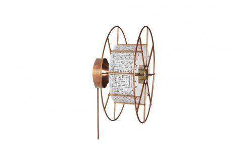 Nástěnné světlo Drum 30 cm, měď/bílá-motiv twa003 Odemark Nástěnné osvětlení