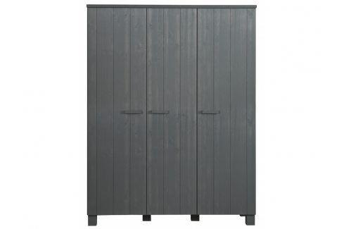 Skříň Koben 158 cm, tmavě šedá dee:365543-GBS Hoorns Šatní skříně