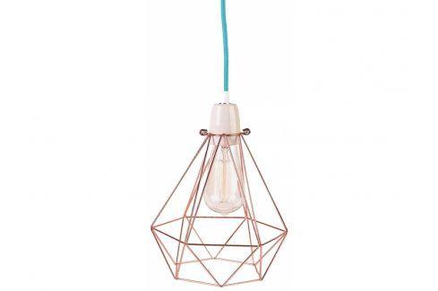 Závěsné světlo Diamond 1, bronzová/modrá filament004 FILAMENTSTYLE Závěsná svítidla