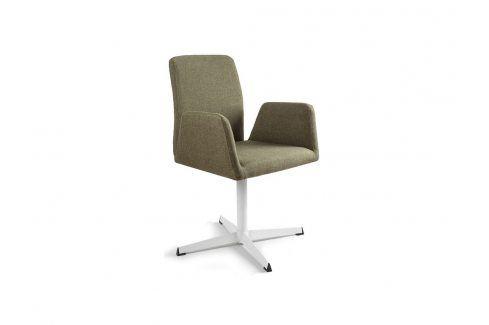 Konferenční židle Bela s pevnou kovovou základnou, zelená UN:778 Office360 Konferenční židle