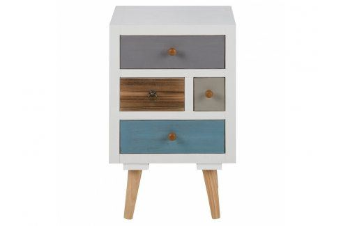 Noční stolek Thess 59 cm, bílá/barvy SCHDN0000063369 SCANDI Noční stolky