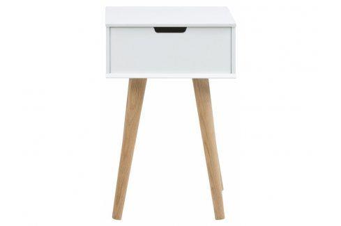 Noční stolek Marika, bílá SCHDN0000060638 SCANDI Noční stolky