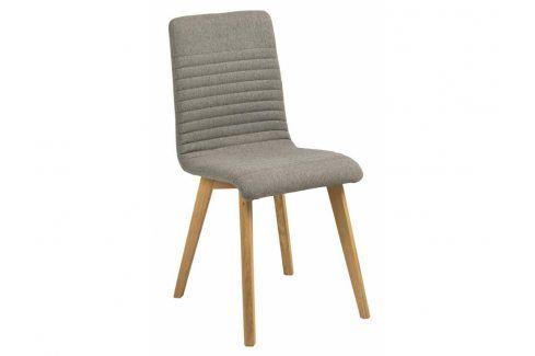 Jídelní židle Areta, látka, světle šedá SCHDN0000064832 SCANDI Sleva dne
