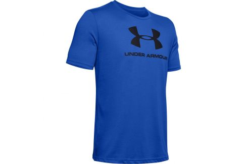 Pánské triko Under Armour Sportstyle Logo SS Velikost: XL / Barva: modrá/černá Pánská trička