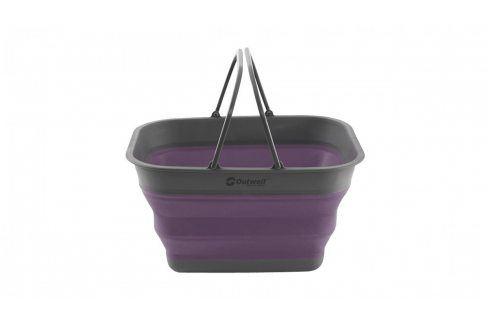 Skládací koš Outwell Collaps Crater w/handle Barva: fialová Vybavení