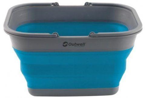 Skládací koš Outwell Collaps Crater w/handle Barva: Turquoise blue Vybavení